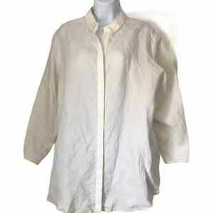 Cos Ivory Relaxed Button Down Shirt
